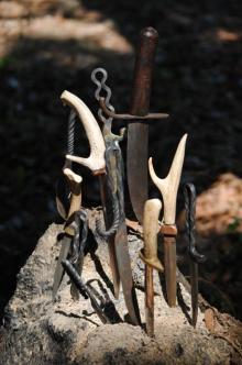 Hand Forged knives by Edd Scafidel