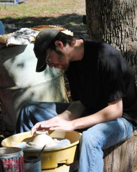 Throwing pottery