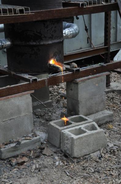 Iron starts to flow