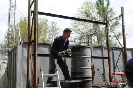 John Perilloux charging the cupola