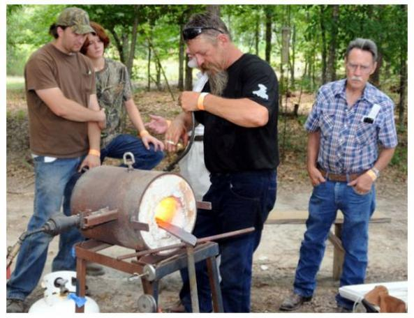 Master Smith Chris Marks at Gas Forge