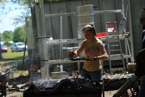 Deborah at the forge