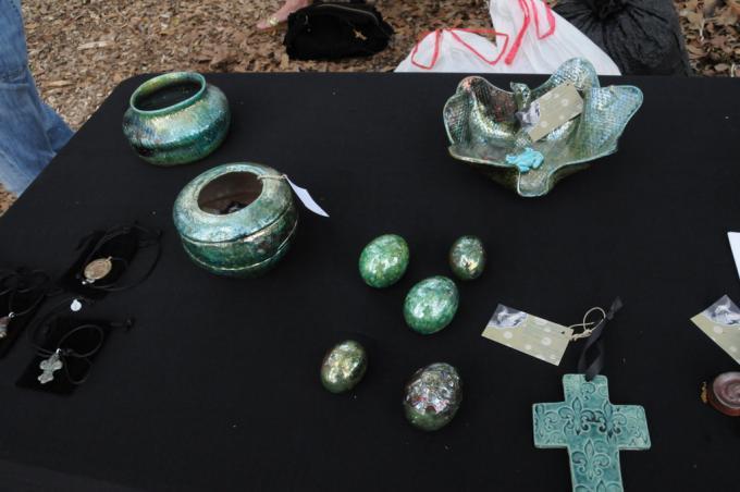 Raku pottery by Kelly Landrum
